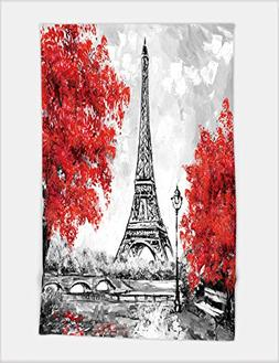 Minicoso Bath Towel oil painting paris european city landsca