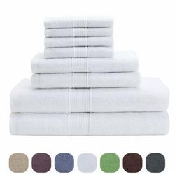 Bath Towel Premium Cotton Set of 8 Towels Hotel Spa Quality