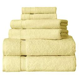 SALBAKOS 6 Piece Bath Towel Set - Turkish Luxury Hotel & Spa