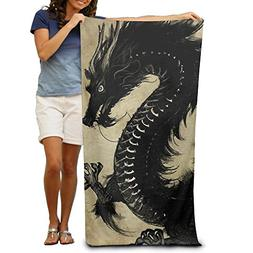 "Bath Towels Black Dragon 32""x51"" Premium Towel Blanket Super"