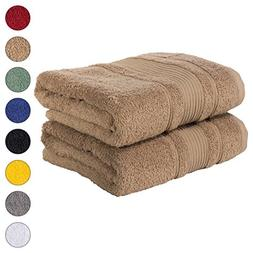 Qute Home 2 PACK Bath Towels Set | Premium Quality Luxury Tu