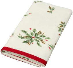 "Lenox Bath Towels, Holiday Printed 16"" x 28"" Hand Towel Bedd"