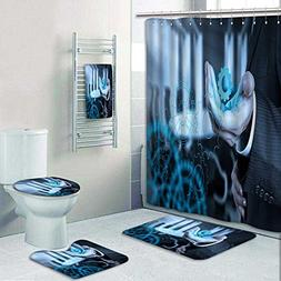 5-piece Bathroom Set-Includes Shower Curtain Liner, Bathroom