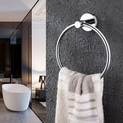 Bathroom Toilet Hand Towel Ring Holder Rail Stainless Steel