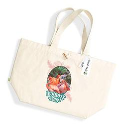 Beach Bags for Women Tropical Flamingos Canvas Holiday Tote