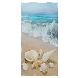 Beach SEASHELL Starfish Hand Towels Sea Ocean Wave Bathroom