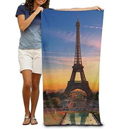X-Large Beach Towel Paris Eiffel Tower Microfiber Towel