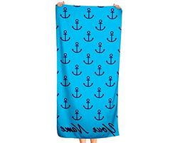 Extra Large Personalized Beach Towel - Oversized Thick Cotto