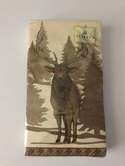 Bear Moose Lodge Guest Hand Towels Napkins Party Paper Set o