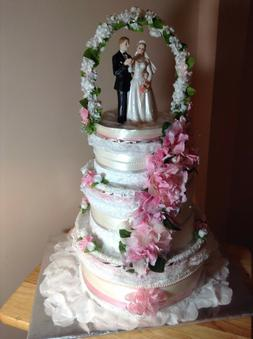 Beautiful Wedding Towel Cakes