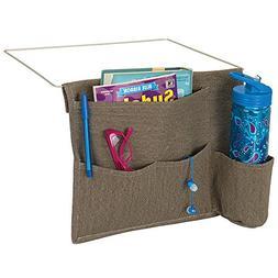 mDesign Bedside Storage Organizer Caddy Pocket - Slim Space