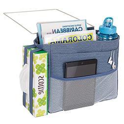 mDesign Bedside Storage Organizer Caddy Pocket - 4 Deep Pock