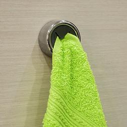 Tatkraft Bera Push & Grip Round Tea Towel Holder Chrome Plat