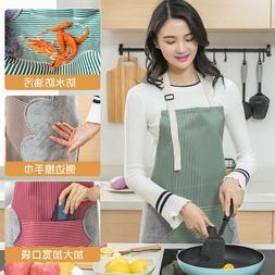 Bib Apron with Pocket 2 Towels Hand wipe Apron Adjustable St