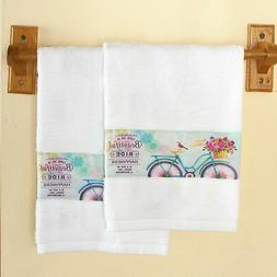 Bicycle-Themed Hand Towels for Bathrooms - Life Is a Beautif