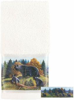 Avanti Linens Black Bear Lodge Fingertip Towel, Multi