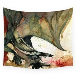 Black <font><b>Dragon</b></font> Wall Tapestry Wedding Party