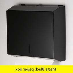 Black Matte <font><b>Paper</b></font> Box Bathroom <font><b>