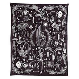 PYHQ Black And White Tapestry Wall Hanging Boho Art Dorm Roo
