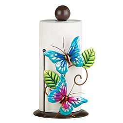 Blue Butterfly Kitchen Countertop Metal Paper Towel Holder S