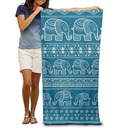 Huishe1 Blue Elephant 100% Polyester Beach Towel Chair  Thic