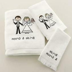 Avanti Linens Bride & Groom Hand Towel - White
