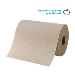 Brown Paper Towel Rolls 6-Pack Hand Towel Absorbent Recycled