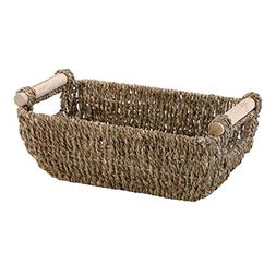 "Hoffmaster BSK3000 Seagrass Basket with Handles, 4.25"" Heigh"
