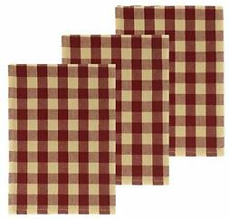 Buffalo Check 100% Cotton Kitchen Towels, Set of 3