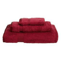 3 Piece Burgundy Stripe Border Towel Set With 30 X 54 Inches