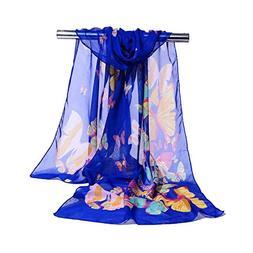 Color Butterfly Chiffon Scarf Scarf Shawls Beach Towel Windp