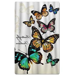 FSKDOM Fashion Butterfly Colorful Monarch Butterflies Double