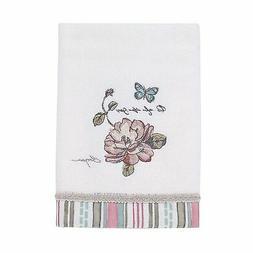Avanti Linens Butterfly Garden Hand Towel - White
