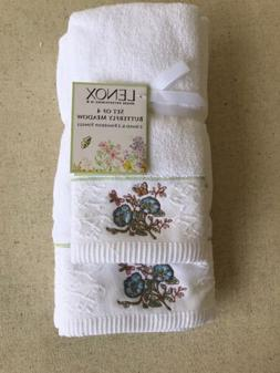 LENOX Butterfly Meadow Embroidered Hand and Fingertip Towels