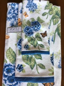 Lenox Butterfly Meadow Towels Set of 3 Bath Hand Fingertip B