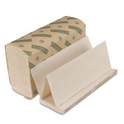 Green Folded Towels, Multi-Fold, Natural White, 9 1/8 x 9 1/