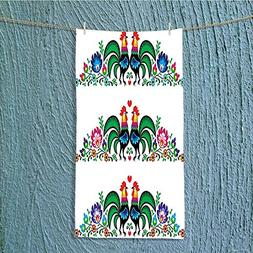 SCOCICI1588 camping towel Gallos Roosters Polish Culture Sla