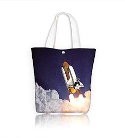 Canvas Tote Handbag Shuttle Launch Men And Women Shopping To