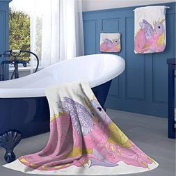 alisoso Cartoon Bath towel 159D digital printing set Illustr