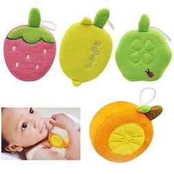 4 PCS Baby Bath Sponge, Polyester Fine Fiber Soft Shower Spo