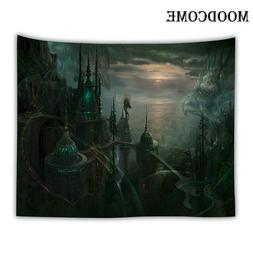castle <font><b>dragon</b></font> wall mandala tapestry wall