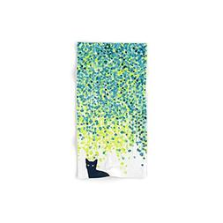 "Society6 Bath Towel, 30"" x 15"", Cat in The Garden Under Will"