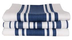 KAF Home Center Band & Basket Weave Kitchen Towel Set of 3,