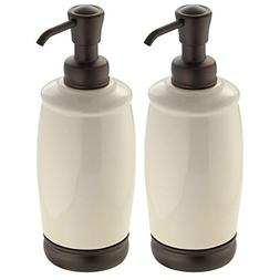 mDesign Ceramic Liquid Soap Dispenser Pump Bottle for Kitche