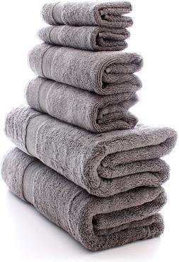 Chakir Turkish Linens 100% Cotton 6-Piece Towel Set 2 x Bath