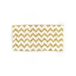 "Society6 Chevron Gold And White Hand Towel 30""x15"""