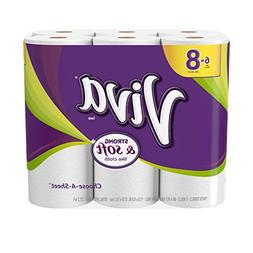 VIVA Choose-A-Sheet* Paper Towels, White, Big Roll, 6 Rolls