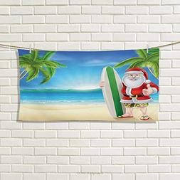 Chaneyhouse Christmas,Hand Towel,Santa Claus with Trunks on