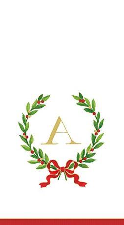 Entertaining with Caspari Christmas Laurel Wreath Paper Gues