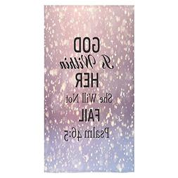Christmas/Thanksgivng Day Decor Bible Quotes God Is Within H